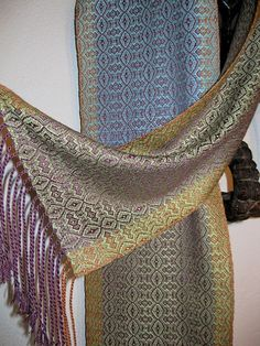 Handwoven Silk Scarf Hand Dyed Accessories Woven by by tisserande, $130.00