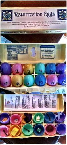 Resurrection Eggs made in MOPS to teach kids about the real meaning of Easter