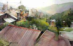 Taiwan's rural landscape (Jin-gua-shih) by Kuo Jin-Sheng 郭金昇 Guo Kim Seung,
