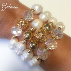 #goldfill #pearls #collection .  Gabisasworld #gabisasboutique #Gabisas #miamiboutique #boutique #style #fashion #handmadejewerly #stacks #style #fashion #picoftheday #armcandy #armparty #instapic . invoice!!! 3475 NW 114th Ave Doral FL 33178