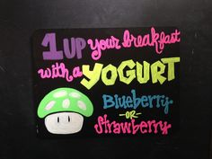 1up breakfast Mario sign for Dragon Con 2015