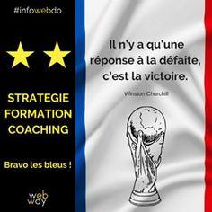 Il n'y a qu'une réponse à la défaite, c'est la victoire ! ..#bravolesbleus #bravo #lesbleus #france #champions #championship #championsdumonde ⭐️⭐️ #wearethechampions #worldcup2018 #sowebway #wewillwebyou Coaching, Bravo, Winston Churchill, Champions, Ecards, France, Memes, Instagram, Blue