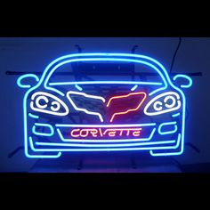 NNew Chevy Corvette C6 Neon sign Fully Licensed by GM Racing Flags OLP  C1 C7