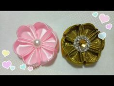 Tutorial Kanzashi for beginner 6 - YouTube