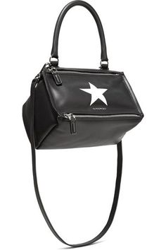 GIVENCHY Pandora small printed leather shoulder bag. #givenchy #bags #shoulder bags #hand bags #canvas #leather #