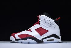 brand new 516b9 41fce Nike Air Jordan 6 Retro White Carmine Black Mens Sneakers Buy All Star Shoes,  New
