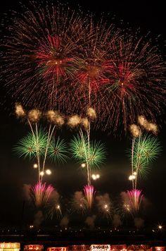 Fireworks in Omagari, Akita, Japan 大曲の花火