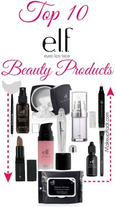 One of our favorite brands for cheap beauty products that don't skimp on the quality is e. They offer many popular products at supper affordable prices and these are some of our favorites and bestsellers! And cruelty free! Makeup Elf, Love Makeup, Skin Makeup, Good Cheap Makeup, Best Elf Makeup, Makeup Brushes, Candy Makeup, Awesome Makeup, Makeup Remover