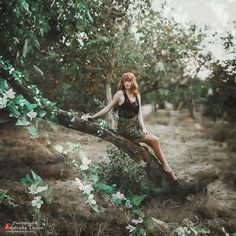 Ekaterina Troyan Art & Creative okeyteam kate troyan photo girl portrait woman red hair mistic dress green forest tres elf