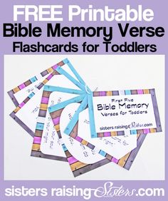Top 5 Bible Verses to Teach Your Toddler (and how to do it). Including FREE Printable Bible Memory Verse Cards.