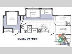 Open Range Roamer RT296BHS travel trailer floor plan option for