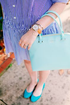 fossil watch + kate spade bag