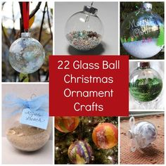22 Glass Ball Christmas Ornament Crafts