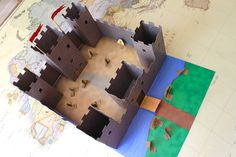 Middle Ages Fun - make a castle out of a card board box
