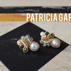 80cb47faa811 PG Aretes de perlas y cristales  patriciagarciaaccesorios  aretes  earrings   chapadeoro  handmadejewelry  hechoamano  manosmexicanas  joyeriaartesanal  ...