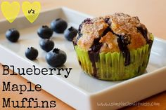 Blueberry Maple Muffins - 21 Day Fix Recipes - Clean Eating Recipes Breakfast recipes weight loss healthy eating recipes - 21 Day Fix Meals - www.simplecleanfitness.com