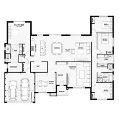 We design & build stunning and afforable two storey homes in Perth, WA. 4 Bedroom House Plans, Family House Plans, Best House Plans, Dream House Plans, Modern House Plans, Modern House Design, House Floor Plans, U Shaped Houses, House Plans Australia