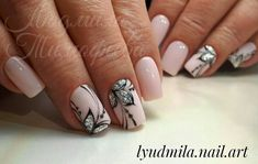Lessons That Will Get You In The arms of The Man You love Stylish Nails, Trendy Nails, Get Nails, Hair And Nails, Diamond Nails, Manicure E Pedicure, Nagel Gel, Flower Nails, Perfect Nails