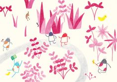 Didis are relaxing in the park. Children's Picture Book Illustration by Yodchat Bupasiri for Ilustrarte 2014 competition / kids / children / happiness / playground / park / http://yodchatbupasiri.wordpress.com/