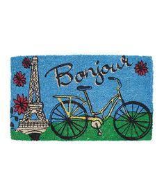 Take a look at this Entryways Bicycle in Paris Handwoven Doormat by Entryways on #zulily today!