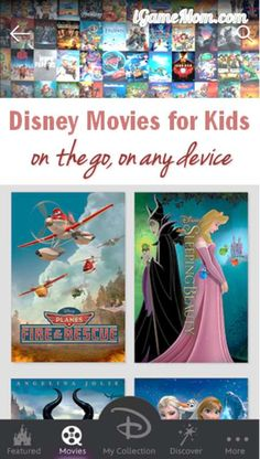 Disney movies for kids anywhere on any device, you can even load the DVDs you bought into the app - and it is free #KidsApps