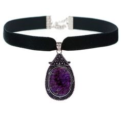 JADA Amethyst Choker (120 BRL) ❤ liked on Polyvore featuring jewelry, necklaces, accessories, chokers, colares, choker pendants, amethyst necklace, pendants & necklaces, pendant choker necklace and pendant choker