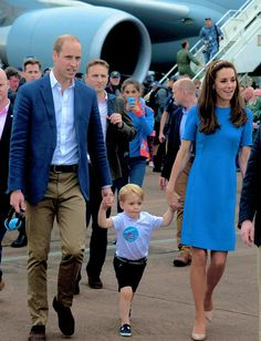 The Cambridges during a visit to the Royal International Air Tattoo at RAF Fairford on July 8, 2016 in Fairford, England.