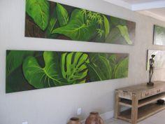 painel hotel don quijote Plant Painting, Plant Art, Botanical Wall Art, Leaf Art, Creative Art, Flower Art, Watercolor Art, Art Decor, Art Projects