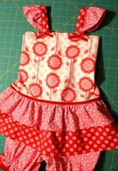 Tutorial: Sew a sundress/romper for your little girl