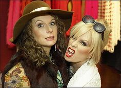 Absolutely Fabulous: Jennifer Saunders as Eddie and Joanna Lumley as Patsy Jennifer Saunders, Patsy And Eddie, Edina Monsoon, Comedy News, Patsy Stone, Joanna Lumley, Ab Fab, British Comedy, Absolutely Fabulous