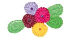Cómo tejer flores Yoyo a crochet (Yoyo flowers)