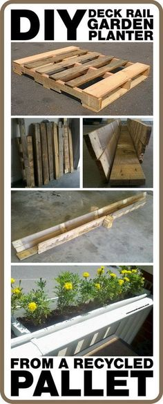 How To Make A DIY Deck Rail Garden Planter From A Pallet