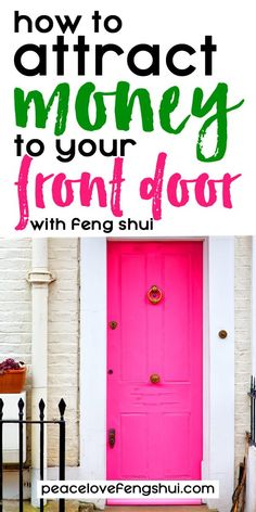How to feng shui your front door for money and good fortune! - Learn how to fen., How to feng shui your front door for money and good fortune! - Learn how to feng shui your front door to attract wealth, abundance, and good fortune. Feng Shui Entryway, Feng Shui Doors, Feng Shui Front Door, Feng Shui Bedroom, Feng Shui And Money, Feng Shui Wealth, How To Feng Shui Your Home, Feng Shui Tips, Feng Shui For Beginners