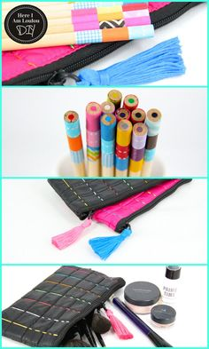 DIY: Amazing DIY blog: Turn your Pencil Case Into Something Pretty  Washi Tapes & embroidery  http://www.hereiamloulou.com/2012/11/diy-how-to-turn-your-officeworks-pencil-case-into-something-pretty/