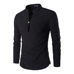 Cheap fit shirt, Buy Quality mens casual dress shirts directly from China slim fit shirt Suppliers: Men's Casual Dress Shirts 2016 New Mandarin Collar Unique Design Slim Fit Shirts Chemise Homme Camisa Masculina M-XXL Smart Casual Men, Mandarin Collar, Casual Shirts For Men, Workout Shirts, Long Sleeve Tees, Shirt Designs, Mens Fashion, Fashion Site, Sleeves