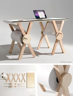 Analog Memory Desk by Kirsten Camara