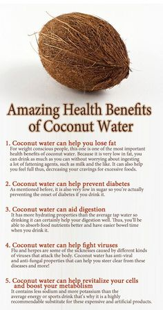 This is what I tell everyone! But No one shares the Love for Coconut Water Like Me.