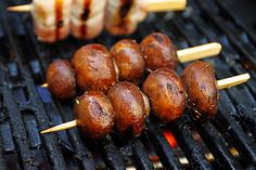 skewers from the grill - Rezepte - Chicken Recipes Healthy Oven, Chicken Recipes Dairy Free, Chicken Tenders Healthy, Healthy Rice Recipes, Chicken Thigh Recipes Oven, Baked Bbq Chicken Legs, Grilled Chicken Tacos, Chicken Thighs, Grilled Mushrooms