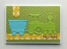 Card for kids birthday train locomotive waggon - Marianne design train die LR0308 - Bundle of Joy Boy paper pad - Echo Park paper pad Bundle of Joy Boy Collection #echoparkpaper - JKE