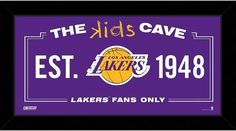 """Steiner Sports Los Angeles Lakers 10"""" x 20"""" Kids Cave Sign"""