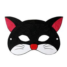 FREE DIY PDF printable print and cut mask cat---Mog, Jess -postman pat, Meg and Mog, Six dinner Sid, The cat detective, Slinky Malinky, Winnie the Witch, splat the cat