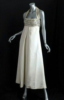 1960's Crystal Beaded Evening Dress