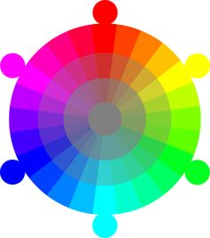 Color wheel RGB/CMYK 24-hour with 2 tones