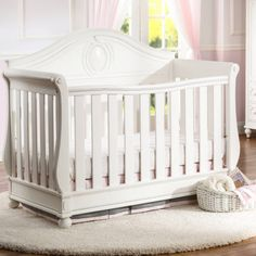 Magical Dreams 4-in-1 Crib from Delta featuring Disney Princess. Transform your nursery into a real life fairytale! With soft curving lines and charming princess-inspired carvings on the headboard and corners, this elegant crib with three mattress heights converts into a daybed, toddler bed and full size bed for years of happily-ever-after charm. Built from strong and sturdy wood, it's designed to add some elegant enchantment to your nursery.