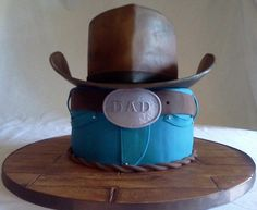 Cowboy Cake that I made for my dad www.facebook.com/OhSugarCustomSweetCakes