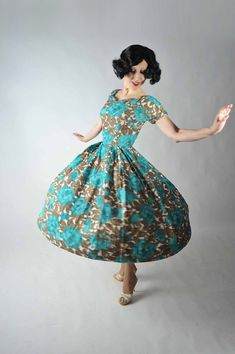 Vintage 1950s Dress // Winter Fashion
