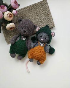 Crochet Animal Patterns, Stuffed Animal Patterns, Crochet Patterns Amigurumi, Crochet Animals, Crochet Mouse, Crochet Bear, Crochet Books, Cartoon Toys, Cute Toys