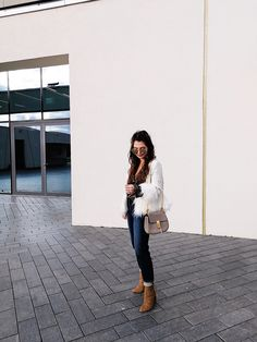 outfit: pearl jeans, Drew bag and my favorite booties - FashionHippieLoves