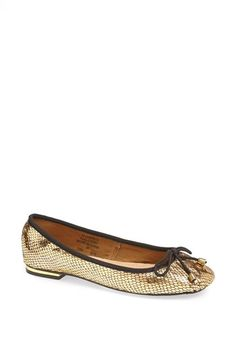 Topshop 'Vent' Metallic Ballet Flat available at #Nordstrom $35.00