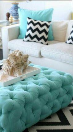 Tiffany blue, chevron decor